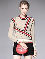 AFOLD® Women's Stand Long Sleeve Sweater & Cardigan Black / Khaki-6050