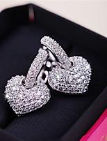Ohrring Herzform Schmuck 1 Paar Modisch Alltag / Normal Kupfer Damen Silber