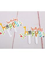 Partido Vajilla Accesorios para Pasteles Papel duro Cumpleaños tema rústico Other Sin personalizar Papel duro Multicolor 120Piece / Set