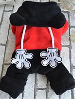 honden Hoodies Rood Hondenkleding Winter / Lente/Herfst Kleurenblok Casual/Dagelijks Other