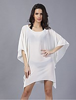 In Colour Women's Round Neck 1/2 Length Sleeve Above Knee Dress-5018
