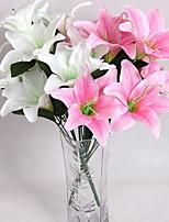 Screen Printing High Imitation Perfume Lily Flowers