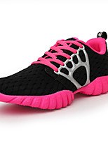 Women's Sneakers Tulle Athletic Flat Heel Lace-up Black / Green / Pink Running EU39-43