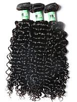 3 Peças Onda Profunda Tramas de cabelo humano Cabelo Brasileiro Tramas de cabelo humano Onda Profunda