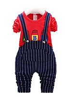 Boy's Casual/Daily Print Clothing Set,Cotton Fall Green / Red / White / Yellow