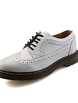 Men's Oxfords Fall Round Toe Leather Casual Low Heel Others Black / Red / White Walking