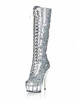 Damen-Stiefel-Hochzeit / Kleid / Party & Festivität-maßgeschneiderte Werkstoffe-Stöckelabsatz-Absätze / Plateau / Modische Stiefel-