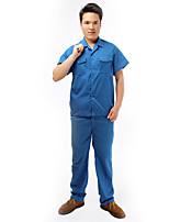 мыть хлопок летом с короткими рукавами комбинезон костюм защитной одежды униформы оснастки jd038
