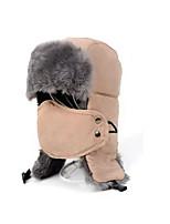 Chapka Hat / Fur Hat Ski Pollution Protection Mask / Hat Men's Thermal / Warm Snowboard Polyester Red / Black / Light KhakiSkiing /
