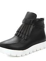 Women's Boots Winter Fashion Boots / Creepers / Round Toe Dress Platform Zipper / Tassel Black / Gray / Almond Others