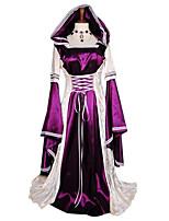 Fantasias Fantasias Princesa Dia Das Bruxas / Natal / Carnaval Roxo Vintage Terylene Vestido