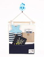 Three Pockets Behind The Door Navy Style Storage Bag