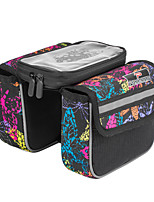 Cycle Bag / Bike Frame Bag Reflective Strip / Wearable / Reflective /phone / Touch Screen Cycling/ 600D PolyesterGray