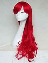 Cosplay Wig Color Red Color Cast Long Curly Hair Wig 30Inch Points