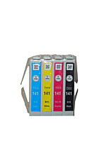 The Original Epson T141 Cartridge Applicable Models: Me620F  A Group of  Four Color Black, Red, Yellow, Blue