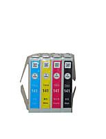 для Epson T141 картриджей применимых моделей: me620f группа из четырех цветов черный, красный, желтый, синий