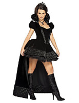 Costumes Vampire / Sorcier / Ange et Diable Halloween / Noël / Carnaval Noir Vintage Térylène Robe