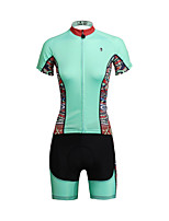 PALADIN Vélo/Cyclisme Ensemble de Vêtements/Tenus Femme Manches courtesRespirable / Résistant aux ultraviolets / Séchage rapide /