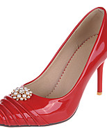 Women's Heels Spring / Summer / Fall Heels / Pointed Toe Leatherette Outdoor / Casual Stiletto Heel / Red