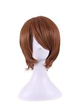 el nuevo anime pelucas solución universal de la cara de color marrón oscuro peluca convertirse deformados 8 pulgadas