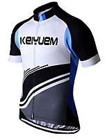 KEIYUEM® Cycling Jersey Unisex Short Sleeve BikeBreathable / Quick Dry / Ultraviolet Resistant / Front Zipper / Antistatic /
