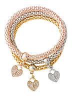 Bracelet Charm Bracelet Alloy Heart Fashion Jewelry Gift Gold / Silver / Rose Gold,1set