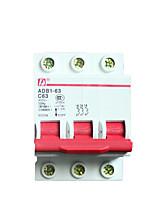 interruptor disjuntor de ar 63a patente disjuntor trifásico C63 / dz47-3p