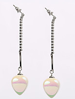 Earring Oval Jewelry Women Personality Wedding / Party / Daily / Casual Pearl / Alloy 1 pair Silver