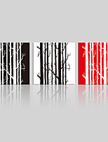 lienzo conjunto Paisaje / Floral/Botánico Modern,Tres Paneles Lienzos Cuadrado lámina Decoración de pared For Decoración hogareña