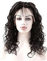 100% Human Virgin Hair 10-26 Inch Natural Black Color Natural Loose Wave Front Lace Wig With Baby Hair