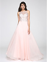 TS Couture® Formal Evening Dress A-line Jewel Floor-length Chiffon with Beading