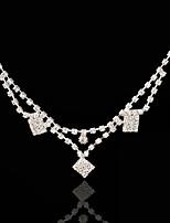 Vrouwen Bergkristal / Licht Metaal Helm-Bruiloft / Speciale gelegenheden Hoofdketting 1 Stuk Zilver