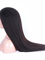 14-26 Inch 100% Human Virgin Hair Natural Color Afro Kinky Straight Lace Front Wig for Fashion Women