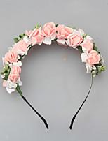 Donne Schiuma Copricapo-Matrimonio Ghirlande di fiori 1 pezzo Rosa / Bianco Fiore 50CM