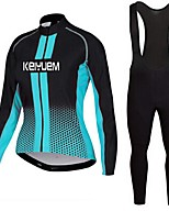 KEIYUEM®Spring/Summer/Autumn Long Sleeve Cycling Jersey+long Bib Tights Ropa Ciclismo Cycling Clothing Suits #L54