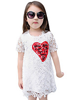 Girl's Casual/Daily Solid Dress,Rayon Summer White
