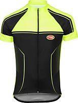 Deportes Bicicleta/Ciclismo Tops Hombres Mangas cortasTranspirable / Secado rápido / Cremallera delantera / Reduce la Irritación / Sin