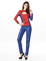 Cosplay-Feminino-Azul-Fantasias de Cosplay- comMalha Collant-Batman