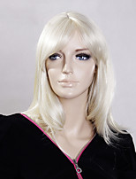 Blonde Color Middle Straight Wigs Capless Synthetic Wigs For Women