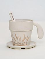 el creativo de la taza taza de café nueva salud con una cuchara con la protección del medio ambiente