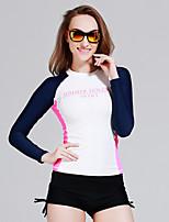 Sportif Femme Haut de Combinaison Respirable Séchage rapide Design Anatomique Néoprène Tenue de plongée Manches longues Hauts/Tops-Plongée