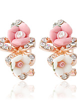 1pair/pink Stud Earrings forWomen