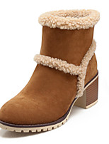 Women's Shoes Fleece Spring / Winter Fashion Boots Boots Wedding / Party & Evening / Dress / Casual Chunky Heel