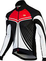 Sportivo Bicicletta/Ciclismo Top Per uomo Maniche lunghe Traspirante / Zip anteriore / Indossabile / Tessuto ultra leggeroTerylene /