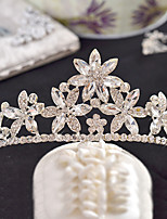 Bride's Flower Rhinestone Wedding Hair Accessories Crown Tiaras Headpiece 1 Pieces