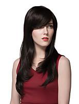 fascinante de moda las pelucas de encargo negros cabellos humanos 24 pulgadas