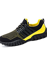 Желтый / Черный и красный / Черный и белый-Мужской-Для занятий спортом-Тюль-На плоской подошве-С круглым носком-Кеды