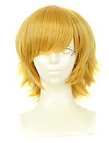 Cosplay Wigs Cosplay Cosplay Golden Short / Straight Anime Cosplay Wigs 30 CM Synthetic Fiber Female