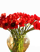 10 Branch Real Feel Moisturize Simulation Poppy Artificial Flower