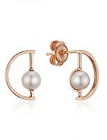 Earring Geometric Stud Earrings Jewelry Women Fashion Daily Alloy 1 pair Gold